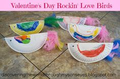 Valentine's Day Rockin' Love Birds (Make 2 each & decorate with heart cut-outs).
