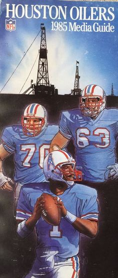 b63502eb5 1985 houston oilers media guide from  5.0 Football Cards
