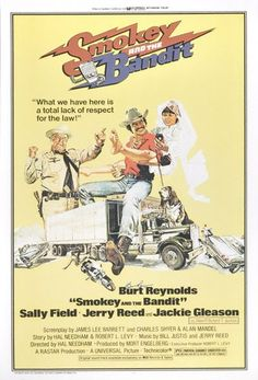 Smokey and the Bandit (1977) - Guilty pleasure, sure. Fun? Hell yes. Another road movie, set during the CB craze (which didn't last long). Talk about chemistry. Burt Reynolds and Sally Field had it.