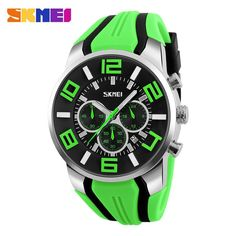Fashion Sports Stop watch with Auto Date 30M Waterproof