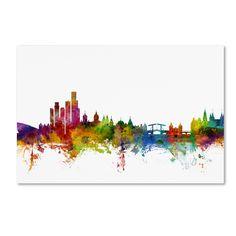 Michael Tompsett 'Amsterdam The Netherlands Skyline' Wall Art