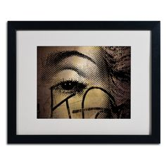 Madonna Eye Pop Art by Yale Gurney Matted Framed Photographic Print