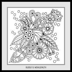 #Ausmalbild I #adult coloring pages #zendoodle #zentangle #lineart #creativ #kreativ #hand drawn Flowers #flower Elements #zenart #art #free doodle art Zen Doodle, Doodle Art, Drawing Exercises, Zen Art, Henna Designs, Tangled, Coloring Pages, Mandala, Doodles