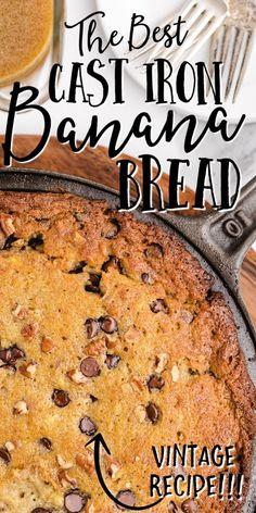 Cast Iron Pie Recipe, Cast Iron Skillet Dessert Recipe, Cast Iron Bread, Cast Iron Skillet Cooking, Skillet Bread, Iron Skillet Recipes, Cast Iron Recipes, Skillet Meals, Skillet Cookie