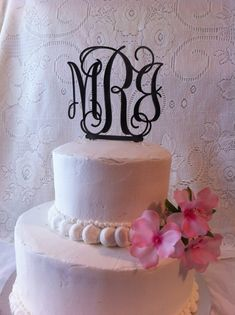Custom 3 letter Monogram Wedding Cake by CountryRoadSpecialty, $29.00 @Deanna Marie I absolutely love this!