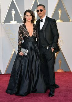 Tom Hardy et Charlotte Riley aux Oscars 2016