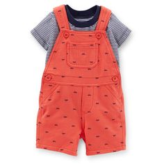 For a play day with Daddy :)  2-Piece Tee & French Terry Shortall Set