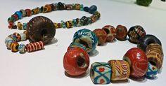 Beads from Apeldoorn, Loenen and Wageningen. 6th century. The Rijksmuseum van Oudheden. Photograph by member Matt Bunker