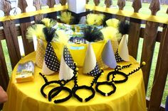 Hats at a Bumble Bee Party #bumblebee #partyhats