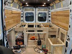 Best Sprinter Van Conversion Ideas For You Van Conversion Plans, Ford Van Conversion, Van Conversion Campervan, Van Conversion Interior, Motorhome, Astuces Camping-car, Truck Bed Camper, Minivan Camping, Chuck Box