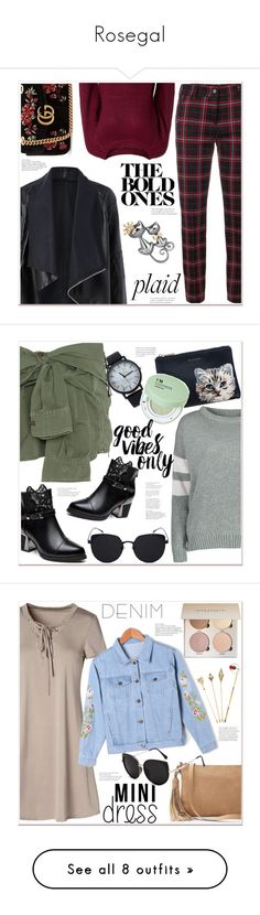 """""""Rosegal"""" by mycherryblossom ❤ liked on Polyvore featuring Cambio, Gucci, Faith Connexion, Paul & Joe Sister, Forever 21, Elope, Express, Rosetta Getty, Burberry and American Eagle Outfitters"""
