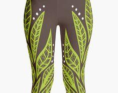 cd4a116380772 Women's Leggings, Yoga Pants, Yoga Leggings, Yoga Clothing, Workout Leggings,  Polynesian