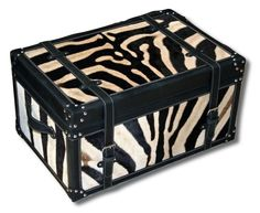 Real zebra cowhide upholstered chest. Cowhide Furniture, Decorative Boxes, Home Decor, Decoration Home, Room Decor, Home Interior Design, Decorative Storage Boxes, Home Decoration, Interior Design