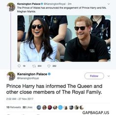 Tweets About Meghan Markle Engaged To Prince Harry