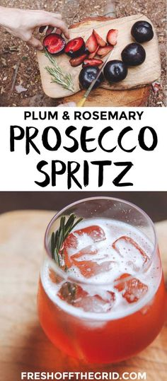 Bright and refreshing, this plum and rosemary prosecco spritz cocktail recipe is a wonderful way to relax at the end of the day. Camping recipes | Camping cocktails