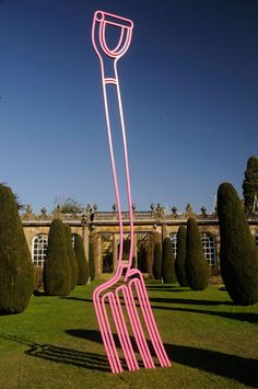 Michael Craig-Martin, Pitchfork (pink) 2014 #art #sculpture #pitchfork