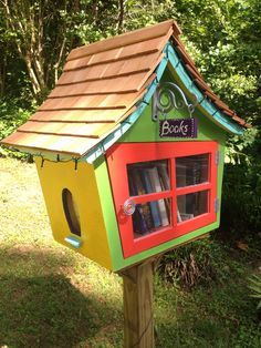 make a free little library from a stump - Google Search