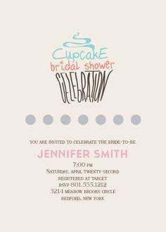 Cupcake Bridal Shower Invitation