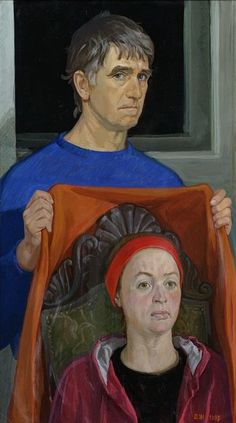 Self Portrait with Nina, 1995 by Dmitry Zhilinsky on Curiator, the world's biggest collaborative art collection. Russian Painting, Russian Art, Soviet Art, Digital Museum, Collaborative Art, Tempera, Mirror Image, New People, Art Forms