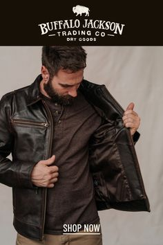 These vintage style brown leather jackets for men give any outfit a classic rugged aesthetic. Keep it classy and casual — the more you wear this biker jacket, the better it looks and feels. Leather Jackets, Leather Men, Brown Leather, Vintage Style, Vintage Fashion, Casual Professional, Best Gifts For Men, Classic Man, Mens Clothing Styles