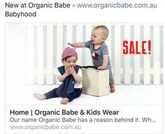 Organic baby clothes sale - www.organicbabe.com.au