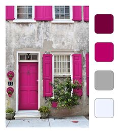 Fuschia, Soft Dove, Stone White - would have been great for Norfolk house!