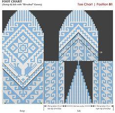 Ravelry: ellisillus' Swiss Latino Birds & Photoshop Foot Charts Fingerless Mittens, Knit Mittens, Knitted Gloves, Knitting Socks, Hand Knitting, Knitting Charts, Knitting Stitches, Knitting Designs, Knitting Projects