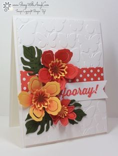 I used the Stampin' Up! Sale-a-bration exclusive Perfect Pairings stamp set and the Botanical Builder Framelits Dies to create my card to share today.  Both of these items will be available on Janu...