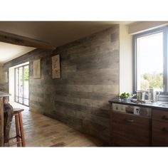 null Element 6.125 in. x 47.375 in. Resin Decorative Wall Panel in Ash Grey (18-Pack)