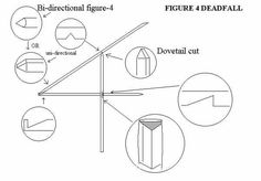 Here is a diagram of a one-stick figure-4 deadfall trap
