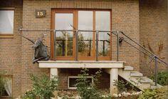 Treppengeländer - Drache aus Stahlblech