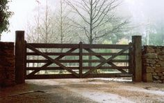 Looking to for wooden gates for your manor or estate? Authentic Gates has over 10 years experience in the industry. Order your genuine timber gate online today. Timber Gates, Wooden Gates, Wooden Driveway Gates, Tor Design, Fence Design, Front Gates, Entry Gates, Front Fence, Farm Fence