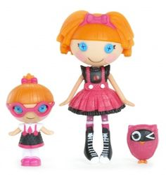 Lalaloopsy Mini Littles Doll, Bea Spells-A-Lot/Specs Reads-A-Lot