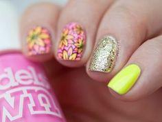 Pink and Orange Roses Nails | Paulina's Passions | Bloglovin'