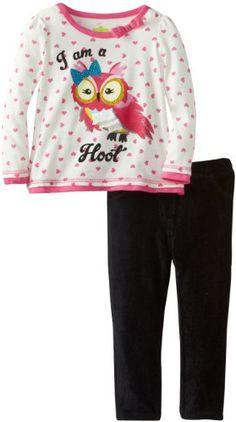 Watch Me Grow! by Sesame Street Girls 2-6X 2 Piece Owl I Am A Hoot Polka Dot Pullover and Pant, Beige, 3T Watch Me Grow! by Sesame Street http://www.amazon.com/dp/B00D4KWP1A/ref=cm_sw_r_pi_dp_G4r4tb166YPZ0