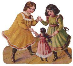 Sentimentalia - Victorian Stickers ~ Glansbilleder> Girls ~ Piger