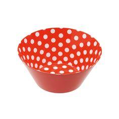 Red Polka Dot Popcorn Bowl - Set of 2 | dotandbo.com