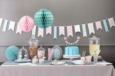 déco anniversaire pastel chevron birthday pastel chevron