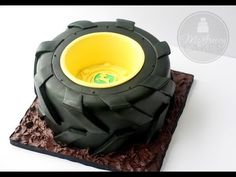 Tractor Tire Cake, with a Free Video Tutorial!- Tractor Tire Cake, with a Free Video Tutorial! – McGreevy CakesMcGreevy Cakes Tractor Tire Cake, with a Free Video Tutorial! Cake Decorating Techniques, Cake Decorating Tutorials, Tire Cake, Truck Cakes, Small Cake, Occasion Cakes, Cakes For Boys, Cake Tutorial, Marzipan