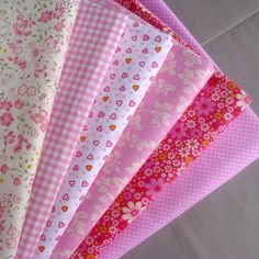 Sewing Fabric Types 6 pieces Pink Series Cotton Fabric for Patchwork Quilting,Bedding Textile for Sewing, Tilda Doll Cloth - Buy Fabric, Cotton Fabric, Love Sewing, Learn Sewing, Shabby Fabrics, Textiles, Sewing Material, Yarn Colors, Fabric Samples