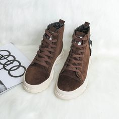 Black Friday Cyber Monday Free Shipping  Winter boots, Korean Edition, British band, high boots, Martin boots, students, cotton, warm, short Short Boots, High Boots, Punk Boots, Martin Boots, Cyber Monday, Winter Boots, Black Friday, High Top Sneakers, Students