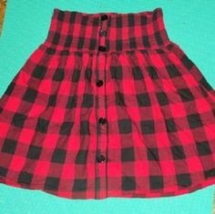 I just discovered this while shopping on Poshmark: Cotton stripped skirt with non functional buttons. Check it out! Price: $10 Size: XL