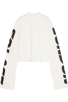 Solace London - Langley Printed Jersey Sweatshirt - White