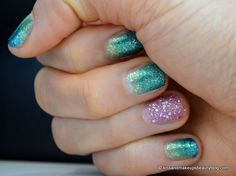 Nail art (Two-toned glitter nail art with the new Zoya Bubbly Summer 2014 Collection & Zoya Magical Pixie Dust Summer 2014 Collection) (8)