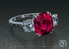 Red spinel may look good as the gemstone in the beauty and the beast ring :). What you think