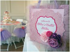 Pink and purple ballerina party. This makes me want to be five again.