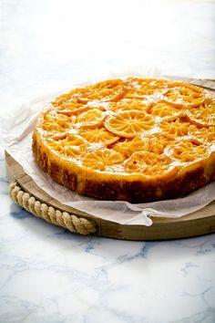 Upside-down cake with clementines   Oggi pane e salame, domani