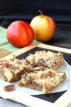 Caramel Apple Pecan Bars | 1001 Healthy Apple Desserts, Apple Dessert Recipes, Fall Desserts, Apple Recipes, Cake Mix Bars, Spice Cake Mix, Pecan Bars, Cookie Brownie Bars, Cooked Apples
