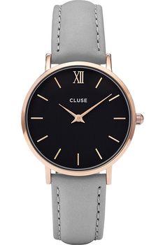 CLUSE - CL30018 Minuit leather watch | Selfridges.com