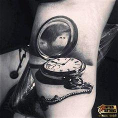 tatuaggio orologio da tasca
